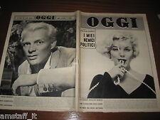 RIVISTA OGGI 1959/41=MARILYN MONROE COVER MAGAZINE=GIORGIO ALBERTAZZI=