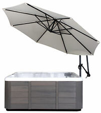 10' Spa Side Hot Tub offset Cantilever Umbrella with Base - Swivels and Tilts!