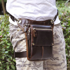 New Men Genuine Leather Cross Body Messenger Shoulder Hip Bum Waist Drop Leg Bag