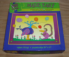 "Made Easy Ceaco 100 Piece Jigsaw Puzzle Complete 15x11"" Color Coded Backings"