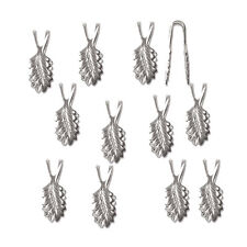 Glue on Bail Leaf 19mm Silver Plated Brass Pendant & Findings 144pc