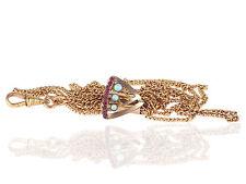 Jugendstil Gold Doublé Rubin Australischer Opal Taschenuhren 140 cm Kette