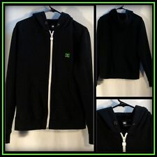 DC Shoes Black White Long Sleeve Full Zipper Hoodie Size (M) Medium #8051