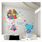 Elephant Balloon Kid Baby Room Nursery Wall Decal Vinyl Sticker Wallpaper Mural