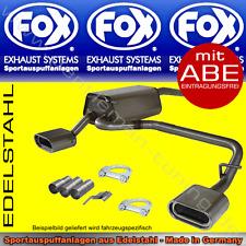 FOX DUPLEX AUSPUFF Jaguar X-Type Limousine ab 2004 130x50 R/L 2,0D 2,2D