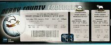 Football Ticket DERBY COUNTY v MANCHESTER CITY Jan 2001