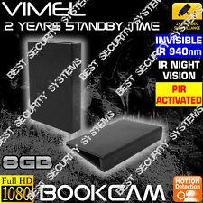 House Security Camera Wireless 8GB Book Cam Office Room Nanny Home No SPY Hidden