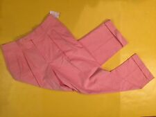 New RARE Mens 34S  SEASHELL PINK CORDUROY PANTS by Johnnie Walker 34 SHORT