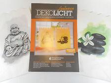 6er Set Luminaria Lichttüten Buddha & Fen Shui Steine Teelichthalter Deko GODE
