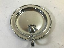 SHIRLEY WILLIAMSBURG VIRGINIA HANDMADE PEWTER PLATE CANDLE HOLDER