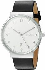 Skagen Original SKW6291 Men's Ancher Black Leather Watch 40mm
