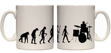 Juko Evolution Ape To Drummer Mug Tea Coffee Drumming Cup