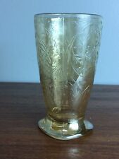 Jeanette Glass Louisa Floragold 10 oz Tumbler Glass Footed