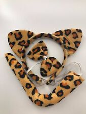 Women Lady Girl Cat Kitty Costume Ear Tail bowtie Party Hair head band set Props