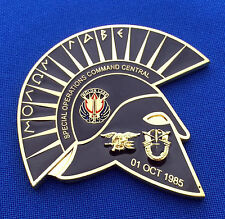 US Navy SEAL Special Operations Command Central SOCCENT Spartan Challenge Coin