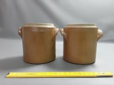 Lot de 2 pots anciens pot terre vernissée french antique brocante