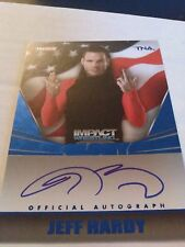 Jeff Hardy 2013 Tristar TNA Impact Glory On Card Auto Blue /10