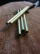 6mm x 100mm 0.5 Wall Brass Tube for Handle Making Knife Scales Lanyard Pins