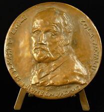 Medaille à Emile Zola Les Rougon-Macquart fresque romanesque R Corbin 1952 medal