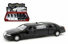 """DISPLAY STRETCH LIMOUSINE 6.6"""" Diecast Car Box Set of 6 White And Black Color"""