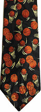 BASKET BALL NECKTIE NEW TIE NBA HOOPS JUMP SHOT PLAYER SPORTS GAMES RING
