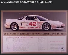 Acura-NSX -1996 SCCA Comptech World Challange-Factory 1996 Car Poster Very Rare
