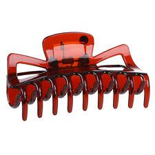 Practical Durable Woman Brown Plastic Bath Hairclip Hair Clamp Claw Barrette AD