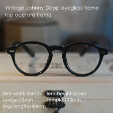 Retro Vintage round eyeglass frame Johnny Depp Eyeglasses Black optical eyewear
