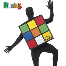 "Adult 80s 1980s Rubiks Cube Rubik's Fancy Dress Costume 38-44"" New by Smiffys"