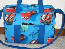 Disney CARS Custom handmade EMIJANE Diaper Bag w/changing pad free embroidery