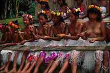 729083 Young Girl Dancers Island Of Pohnpei Micronesia A4 Photo Print