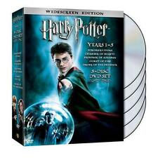 Harry Potter Years 1-5 (DVD, 2008, 5-Disc Set, Widescreen) Free Shipping!