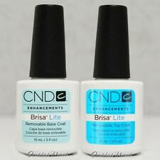 CND BRISA LITE Removable Sculpting Smoothing Gel     BASE & TOP COAT 0.5 oz 15ml