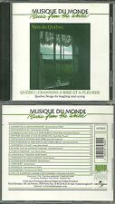 RARE / CD - QUEBEC : CHANSONS A RIRE ET A PLEURER / COMME NEUF - LIKE NEW