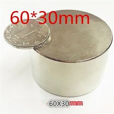 Large NEODYMIUM DISC MAGNET! N52 grade rare earth magnet. New SUPER magnet!60*30