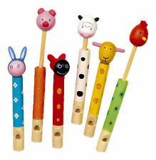 WOODEN ANIMAL FLUTE WHISTLE TOY BOYS GIRLS GIFT FUNNY BIRTHDAY PARTY BAG FILLER
