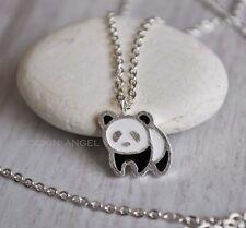 925 Silver Plt Panda Necklace Pendant Girls ladies Girls Gift Wildlife Animal