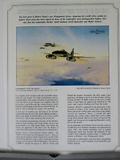Stormbirds Over the Reich JV44 Me262 Luftwaffe Robert Taylor Aviation Art Flyer