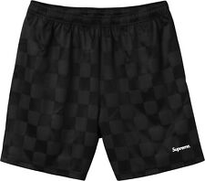 Supreme Checkered Soccer Short S Small Black Box Logo Gonz with back pocket