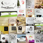 Art Removable Wall Sticker DIY Quote Decal Mural Decor Vinyl Quote Home Room