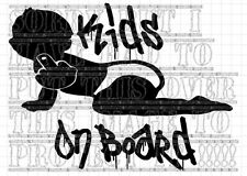 Vinyl rude / funny kids on board decal sticker ideal for tinted privacy glass VW