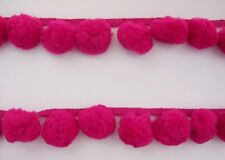 Hot Pink Giant Pompom Big Ball Fringe Dangle Trim Costume Sewing Embellishments
