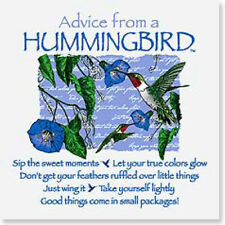 """LEANIN TREE """"Advice From A Hummingbird"""" #26323 Magnet~Sip The Sweet Moments"""