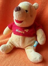 Disney Baby Winnie Pooh Comforter Baby Soft Toy Doudou Winnie and Bee on Red Top