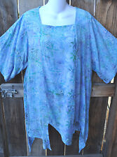 """ART TO WEAR MISSION CANYON 74+ PIXIE HEM TUNIC IN NEW AVALON , OS+,54""""B"""