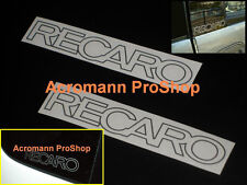 "2x 4.75""12.1cm RECARO decal sticker Mitsubishi Evolution MR EVO V X Lancer vinyl"