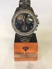 1.25t Techno by JPM Ladies Diamond Black Ceramic Watch Joe Rodeo Aqua Master115S