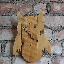 Paleta De Madera Rústica Hecho a Mano en Forma de Búho Reloj Shaby Chic reciclado de apagado y encendido