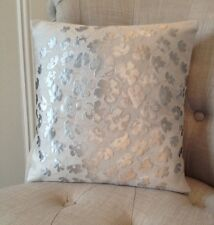 "12x12"" cushion cover in Laura Ashley Coco dove grey & Dupion Silk fabric"