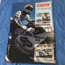 LUCA CADALORA ROTHMANS KANEMOTO HONDA POSTER 1991 IN WONDERFUL CONDITION